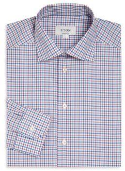 Plaid Contemporary-Fit Dress Shirt $275 thestylecure.com