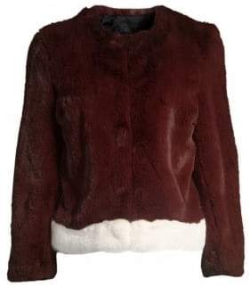 Saks Fifth Avenue COLLECTION Faux Fur Plush Jacket