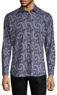 Jared Lang Printed Cotton Shirt