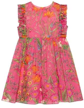 Gucci Floral Sleeveless Cotton Dress