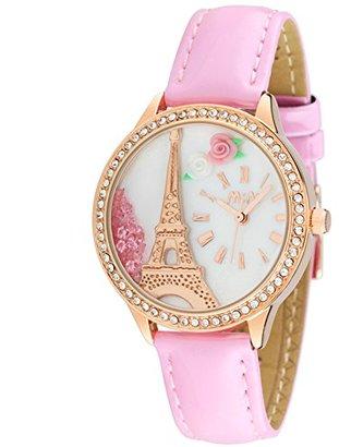 Mini 女性ファッションls学生女性ダイヤモンド腕時計タワーピンク