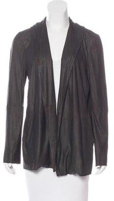 Brochu Walker Open Leather Jacket $130 thestylecure.com