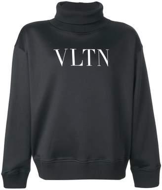 Valentino VLTN roll neck sweatshirt