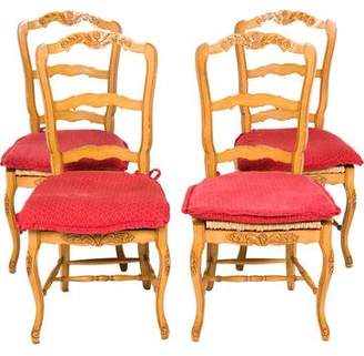Set of 4 French Country Dining Chairs