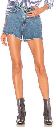 ANINE BING Denim Cut-Off Shorts.
