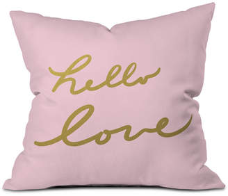 Deny Designs Lisa Argyropoulos Hello Love Pink Throw Pillow