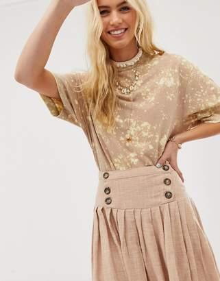 Asos Design DESIGN textured drop waist midi skirt