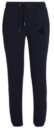 Zoe Karssen Printed Cotton-Blend Terry Track Pants