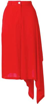 Marios asymmetric high-waisted skirt