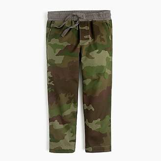 J.Crew Boys' stretch-cotton pull-on pant in camo