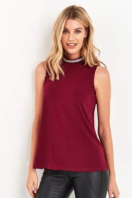 Next Womens Berry Embellished Detail Halter Top - Purple