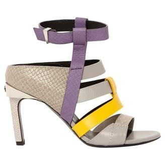 Prabal Gurung Grey Leather Heels