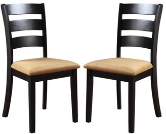 Weston Home Lexington Ladder Back Dining Chairs, Set of 2