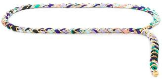 Emilio Pucci Burle Print Woven Chain Belt