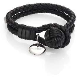 Bottega Veneta Leather Knot Logo Bracelet