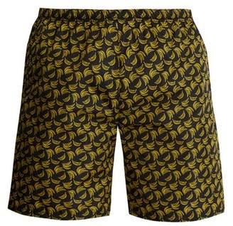 Prada Banana Print Swim Shorts - Mens - Black Multi