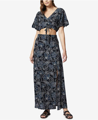 Sanctuary Printed Crop Top & Maxi Skirt Set