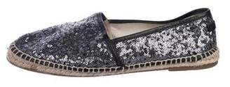 Dolce & Gabbana Sequined Round-Toe Espadrilles