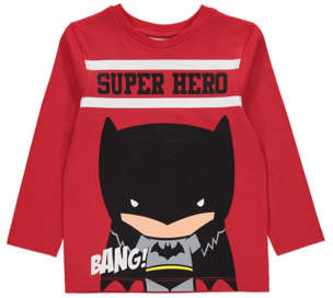 Batman George Red Long Sleeve Top