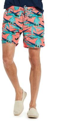 Scotch & Soda Flamingo-Print Swim Trunks $78 thestylecure.com