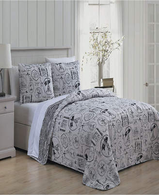Ooh! La Geneva Home Fashion Ooh La La 3 Pc Queen Quilt Set