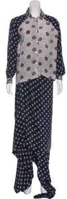 Michel Klein Cher Silk Printed Skirt Set