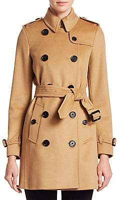 Burberry Women's Kensington Double Breasted Trench Coat