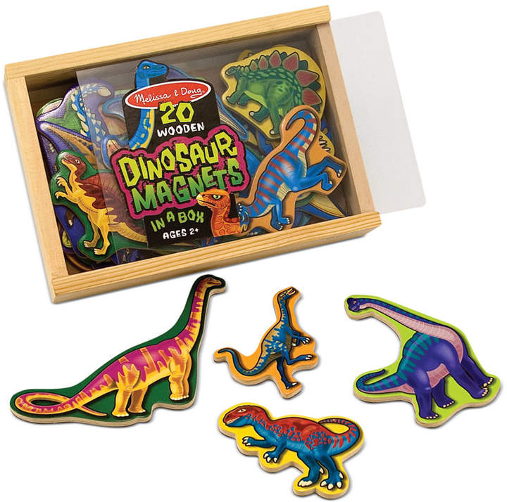 Melissa and Doug Kids Toy, Wooden Dinosaur Magnets