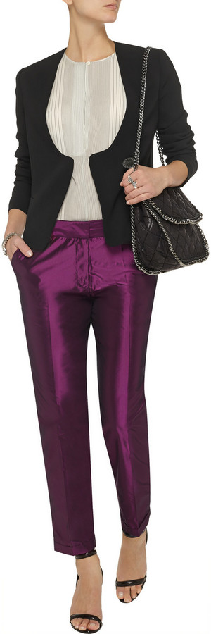 Elizabeth and James Anselm taffeta skinny pants