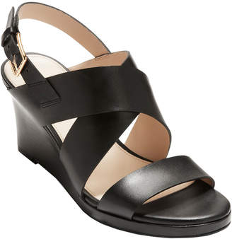 Cole Haan Penelope Leather Wedge Sandal
