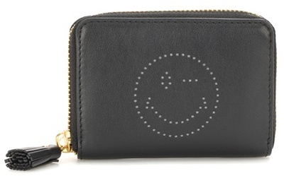 Anya HindmarchAnya Hindmarch Smiley Small Zip-around Leather Wallet