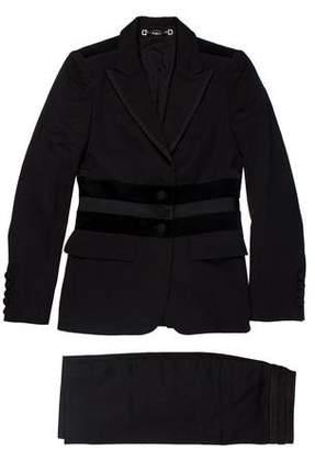 Gucci Peak-Lapel Wool Skirt Set