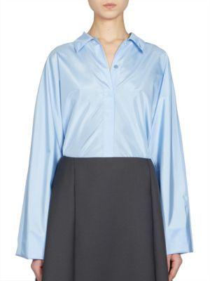 Nina RicciNina Ricci Long-Sleeve Technical Silk Top
