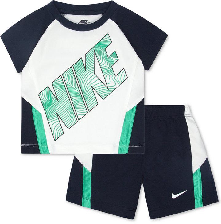 Nike Little Boys' 2-Piece Raglan-Sleeve Shirt & Shorts Set
