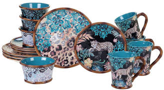 Certified International Exotic Jungle 16-Pc. Dinnerware Set