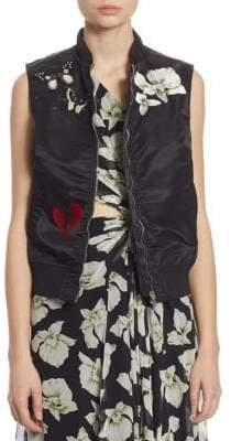 Kingston Embellished Bomber Vest