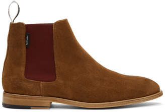 Paul Smith Tan Suede Gerald Chelsea Boots