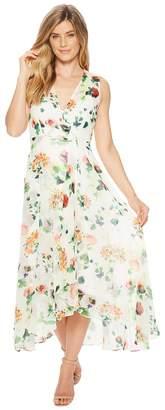 Calvin Klein Flower Print High-Low Maxi CD8HT35J Women's Dress