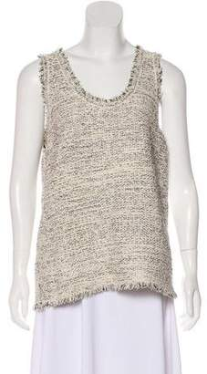 Balenciaga Tweed Sleeveless Top