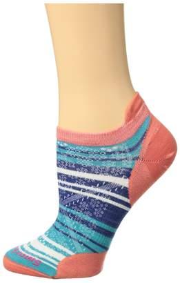 Smartwool PhD Run Ultra Light Striped Micro Women's Crew Cut Socks Shoes