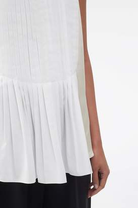 3.1 Phillip Lim Pleated Poplin Tank Top