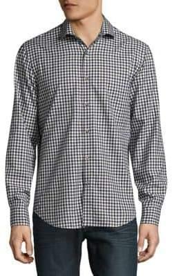 Black & Brown Black Brown Check Button-Down Shirt