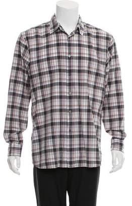 John Varvatos Plaid Button-Up Shirt