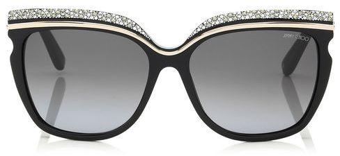 Jimmy Choo SOPHIA Crystal Adorned Framed Sunglasses