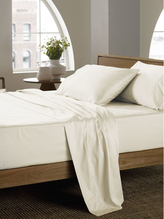 Sheridan 400 thread count vanilla single flat sheet