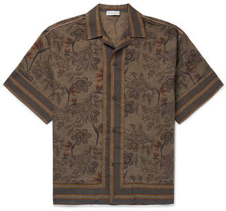 6c517186c4a Etro Camp-Collar Printed Linen And Cotton-Blend Shirt
