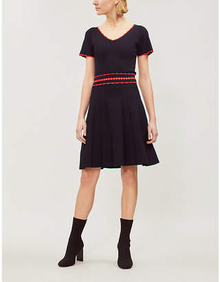 Sandro Fit-and-flare stretch-knit dress
