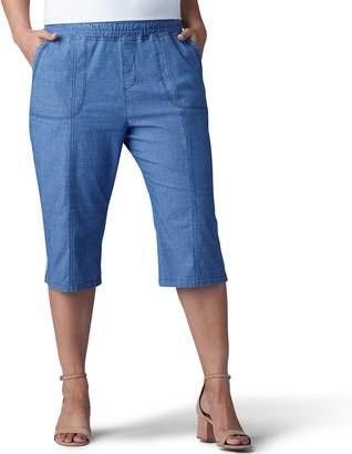 Lee Plus Size Pull-On Skimmer Capris