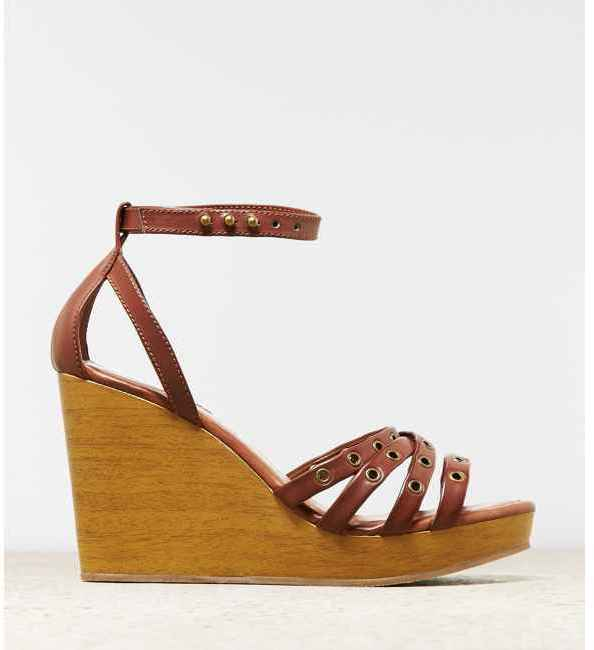American Eagle AEO Strappy Grommet Wedge