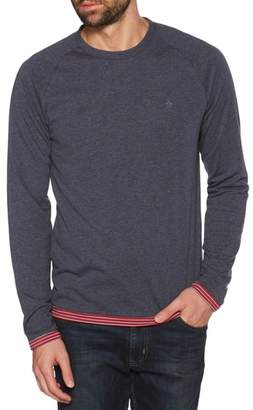 Original Penguin Reversible Long Sleeve Raglan T-Shirt